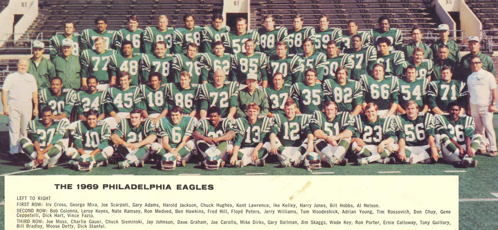 Philadelphia Eagles 1969 Nfl