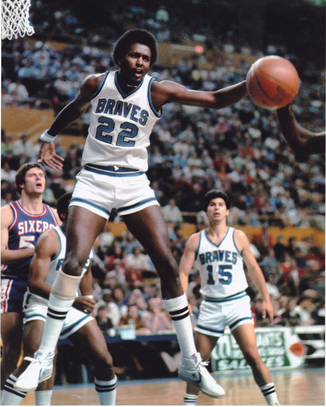 Braves 76 77 Home Moses Malone