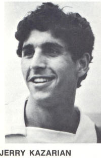 NASL Soccer Los Angeles Aztecs 74 Jerry Kazarian Head