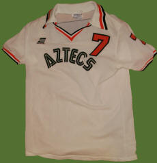 NASL Soccer Los Angeles Aztecs 77 Home Jersey Steve David
