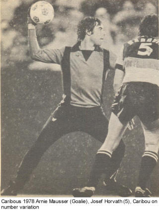 NASL Colorado Caribous 1978 Road Back Joszef Horvath Arnie Mausser