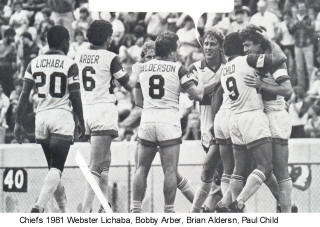Chiefs 81 Home Back Paul Child, Bobby Arber