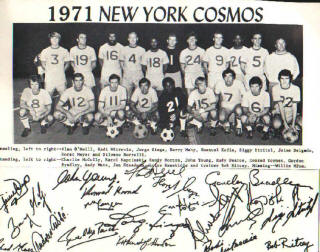 NASL Soccer New York Cosmos 71 Home Team