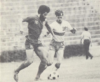 St. Louis Stars New York Cosmos 1974 Road Randy Horton, Gary Rensing