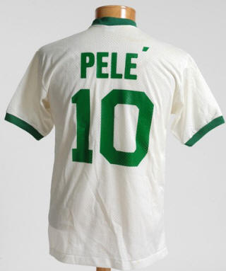 NASL Soccer New York Cosmos 76 Home Jersey Pele 1 Back