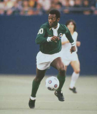 NASL Soccer New York Cosmos 77 Exhibition Pele