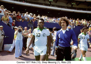 NASL Soccer New York Cosmos 77 Home Pele, Messing, Rildo
