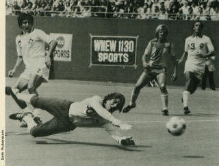 NASL Soccer New York Cosmos 1979 Goalie David Brcic, Tea Men