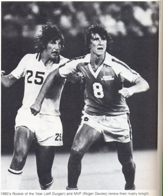 NASL Soccer New York Cosmos 80 Home Jeff Durgan Geoff Davies Sounders