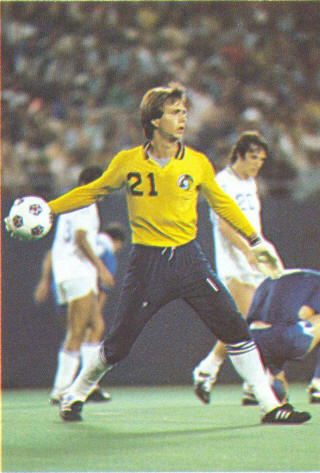 NASL Soccer New York Cosmos 81 Goalie David Brcic