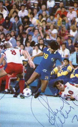 NASL Soccer New York Cosmos 81 Road Chico Borja, Blizzard