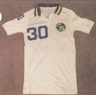 NASL Soccer New York Cosmos 82 Home Jersey Richard Chinapoo