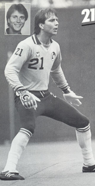 NASL Soccer New York Cosmos 83 Goalie David Brcic