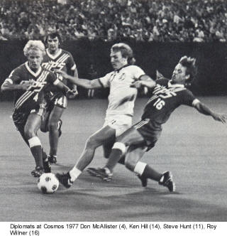 Washington Diplomats 1977 Roy Willner, Don McAllister
