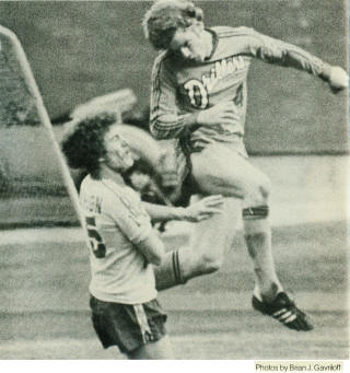 NASL Soccer Edmonton Drillers 79 Road Dwight Lodeweges 2, Tea Men Brian Alderson