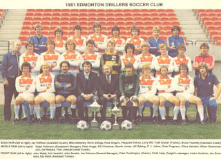 NASL Soccer Edmonton Drillers 81 Home Team