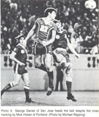 NASL Soccer San Jose Earthquakes 77 Road Geoff Davies