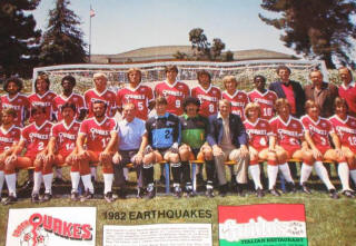 NASL Soccer San Jose Earthquakes 82 Road Team