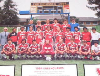 NASL Soccer San Jose Earthquakes 84 Road Team
