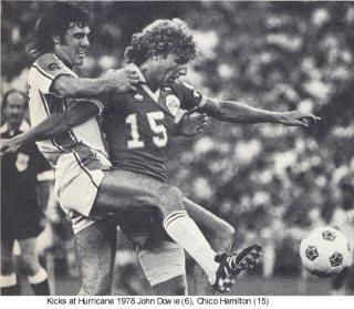 NASL Soccer Houston Hurricane 78 Home Back John Dowie