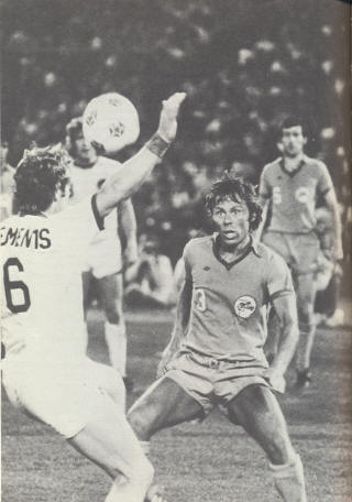New York Cosmos Minnesota Kicks Dave Clements Frank Spraggon