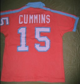 Minnesota Kicks 1977 Road Jersey Stan Cummins Back