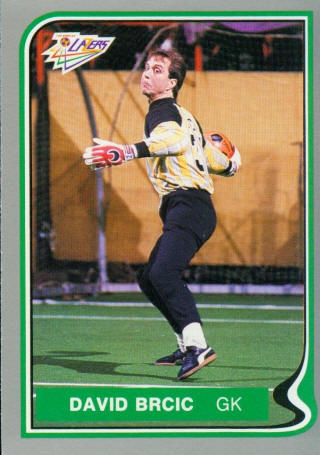 Lazers 86-87 Goalie Back David Brcic