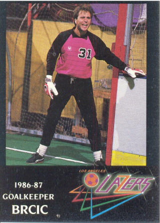 Lazers 86-87 Goalie David Brcic