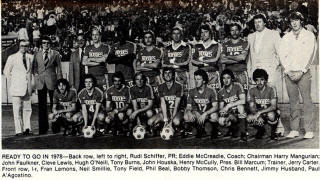 NASL Soccer Memphis Rogues 78 Road Team