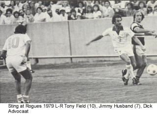 NASL Soccer Memphis Rogues 79 Home Back Tony Field