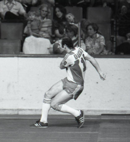 Roughnecks 79-80 Indoor Home Back Alan Dugdale, Rogues 01-17-80
