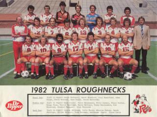 NASL Soccer Tulsa Roughnecks 82 Home Team