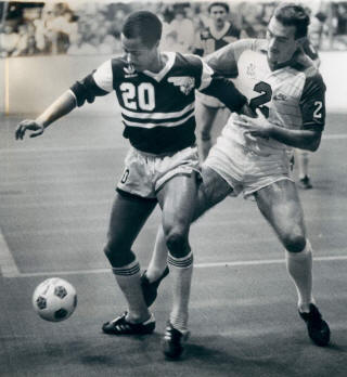 NASL Soccer Tulsa Roughnecks 83-84 Indoor Home Terry Moore, Sting 1-7-1984