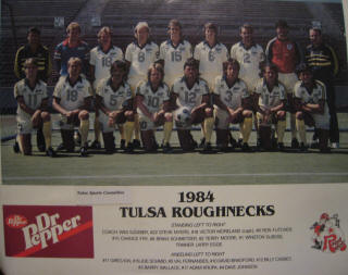 NASL Soccer Tulsa Roughnecks 84 Home Team