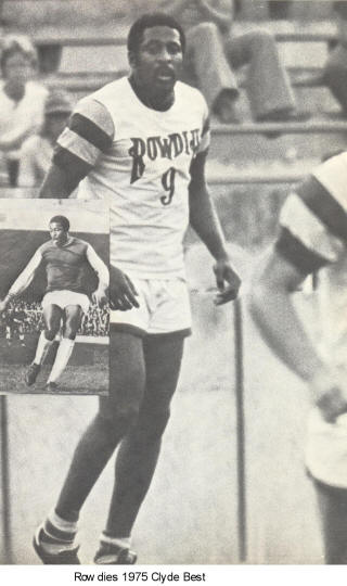 NASL Soccer Tampa Bay Rowdies 75 Home Clyde Best