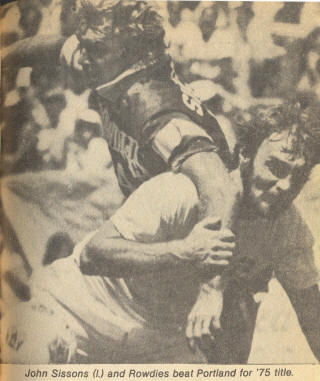 Tampa Bay Rowdies 1975 Road Back John Sisson