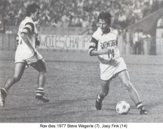 NASL Soccer Tampa Bay Rowdies 77 Home Joey Fink