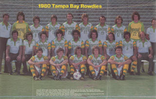 Tampa Bay Rowdies 1980 Team Picture