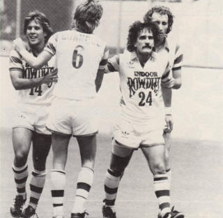 Tampa Bay Rowdies 1981-82 Home Indoor Tatu Connell, Roe, Roberts