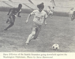 NASL Soccer Seattle Sounders 74 Home Dave D'Errico