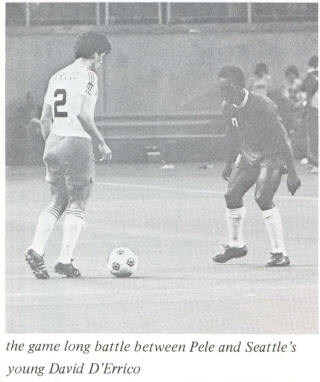 NASL Soccer Seattle Sounders 76 Home Back Dave D'Errico Cosmos Pele
