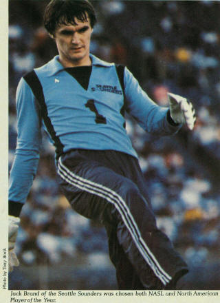 Seattle Sounders 1980 Goalie Jack Brand