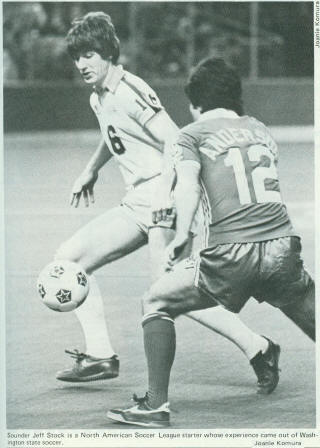 NASL Soccer Seattle Sounders 81-82 Indoor Home Jeff Stock, Timbers Willie Anderson