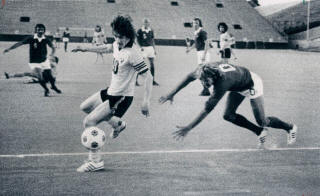 NASL Soccer Chicago Sting 75 Home Gordon Hill, Dynamos 6-6-1975
