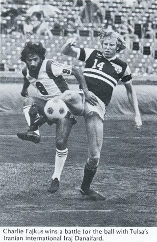 NASL Soccer Chicago Sting 79 Road Charlie Fajkus, Roughnecks