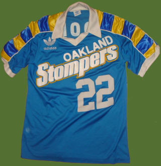 NASL Soccer Oakland Stompers 78 Road Jersey Johnny Moore