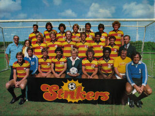 NASL Soccer Ft. Lauderdale Strikers 77 Road Team