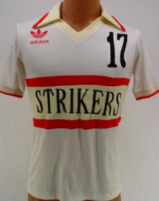NASL Soccer Ft. Lauderdale Strikers 79-81 Home Jersey Tibor Gemeri