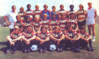 NASL Soccer Ft. Lauderdale Strikers 80 Raod Team