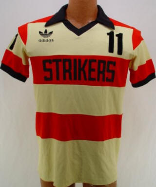 NASL Soccer Ft. Lauderdale Strikers 80 Road Jersey Jeff Cacciatore